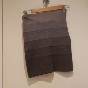Bebe grey bandage skirt